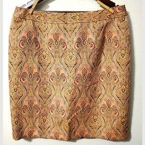 Talbot's shimmer skirt